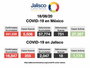 COVID-19 en México 18/08/2020