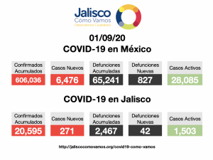 COVID-19 en México 01/09/2020